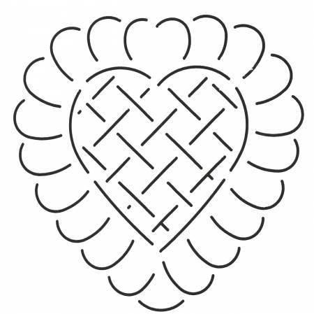 Quilt Stencil Heart Design 6in