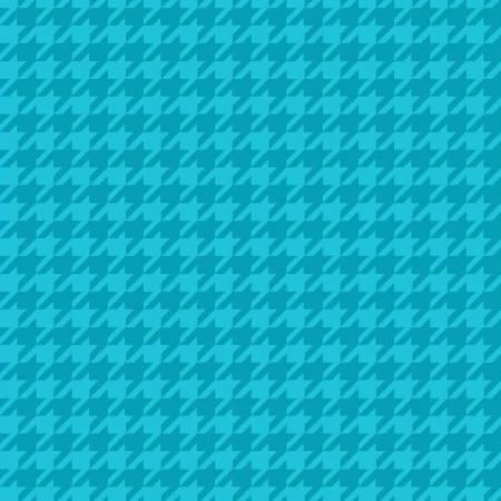 Turquoise Houndstooth Flannel