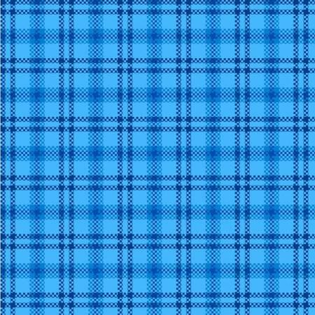 Light Blue Window Pane Flannel