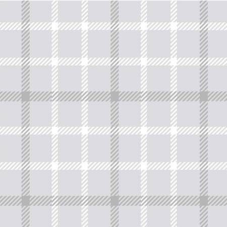 Pale Grey Small Plaid Flannel