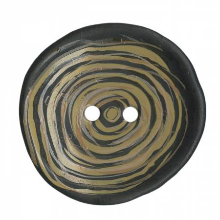 Round Wood Look Button 1-1/2in
