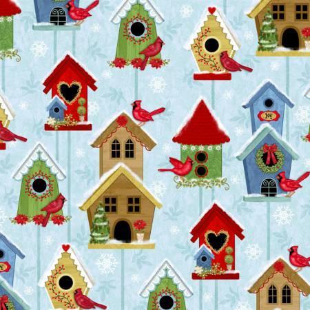 Winter Joy Light Aqua/Blue Bird Houses