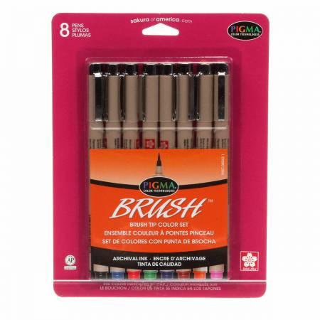 Pigma Brush 8 Col Pk