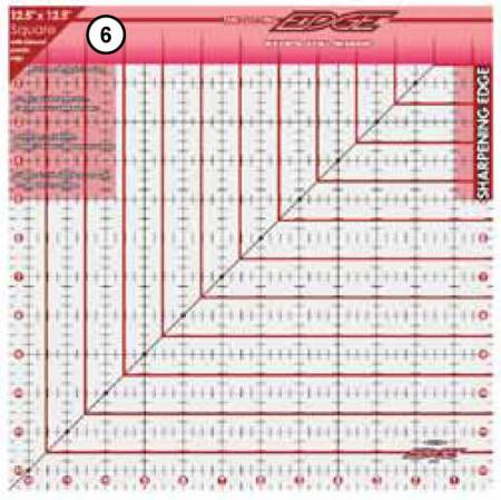 The Cutting Edge Sharpening Edge Ruler 12-1/2in Square