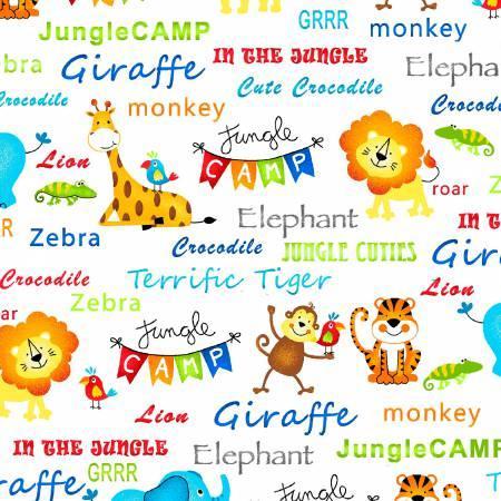 Jungle Camp White Jungle Animals & Words
