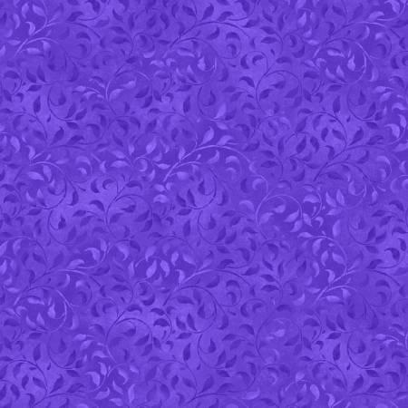 Wilmington Prints - Essentials - Royal Purple Climbing Vine