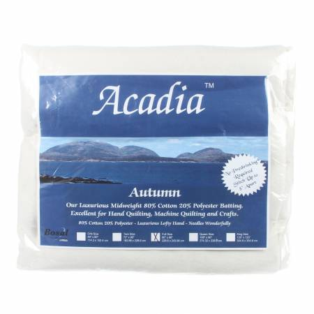 Acadia Premium 80% Cotton 20% Polyester Batting 4oz 90in x 96in