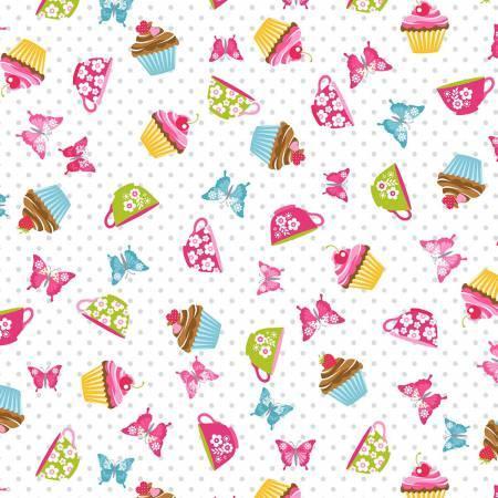 Cupcake Cafe #3893 01- White Cupcake Toss
