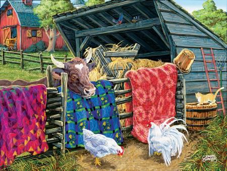 Quilt Cow Puzzle 300pc