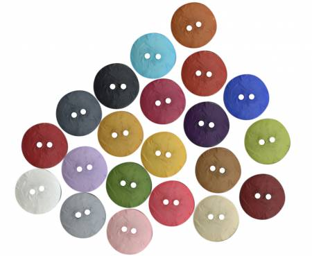 Round Polyamide Mixed Color Part 2 Buttons 1-3/4in