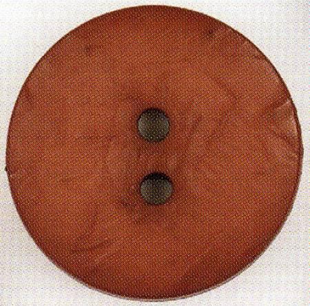 Round Polyamide Button 1-3/4in Rust