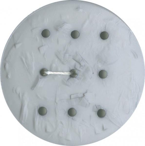 Monogram Round 45mm Button Light Grey