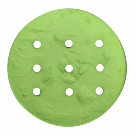 Monogram Round 45mm Button - Green