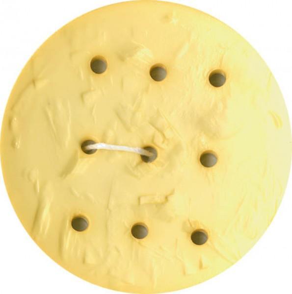 Monogram Round 45mm Button - Yellow