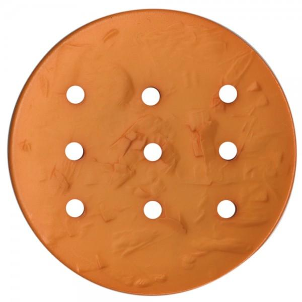 Monogram Round 45mm Button - Light Orange