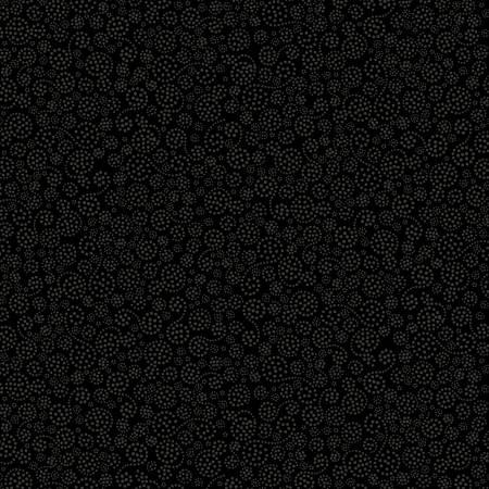 Black on Black Dotted Swirls