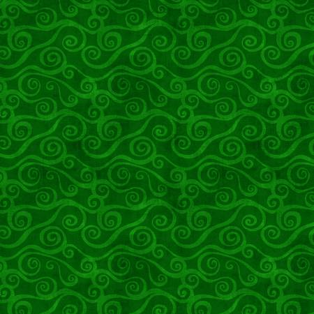 Dark Green Swirly Scroll