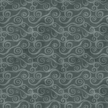 Dark Grey Swirly Scroll