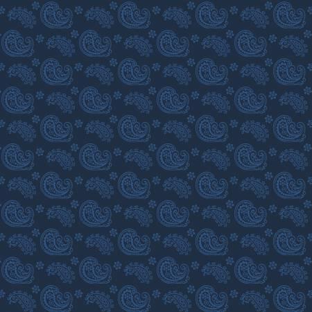 Blue paisley - blue