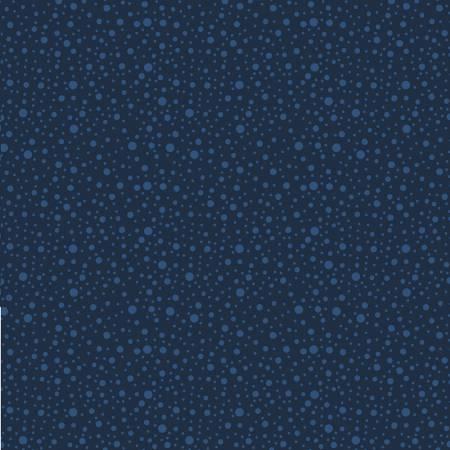 Wilmington Prints Dotty Dots Navy on Navy
