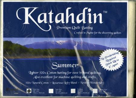 Katahdin Premium 100% Cotton Batting - Summer 3oz - 45in x 60in