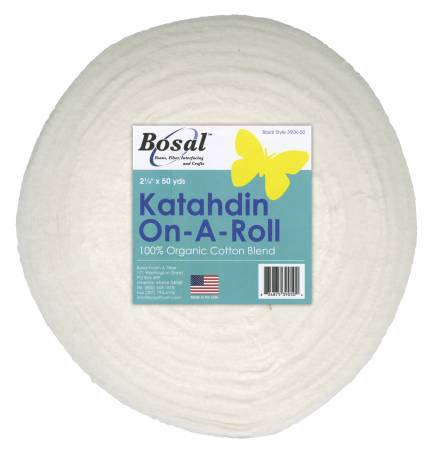 Bosal Batting Roll 2-1/4in X 50yds White Katahdin
