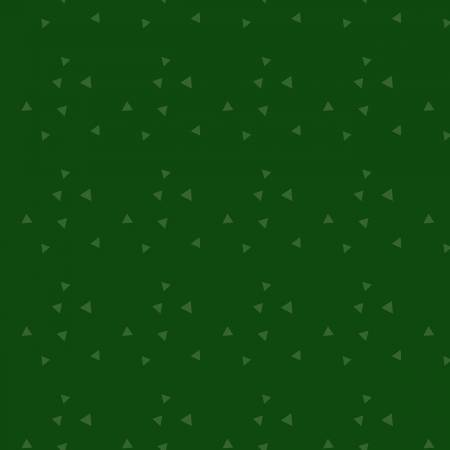 Green on Green Tossed Triangles