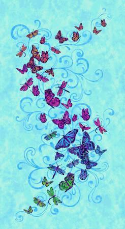 Blue Butterfly Panel 24in