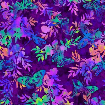 Purple Aflutter & Fern