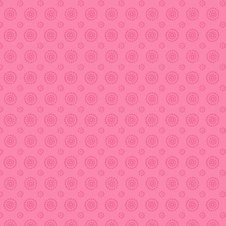 Concentric Circles - Medium Pink