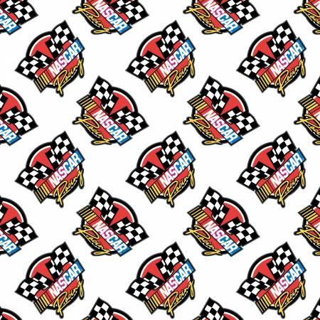 White Nascar Retro Racing