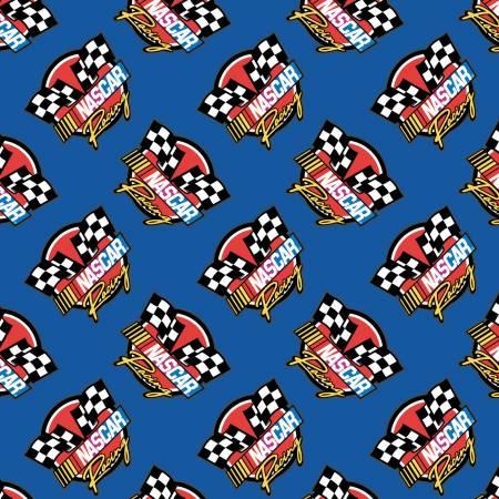 Blue Nascar Retro Racing