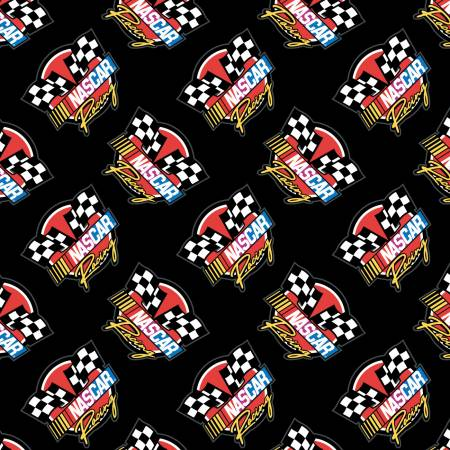 Black Nascar Retro Racing
