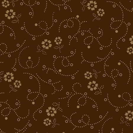 WH Brown Flowers 108in Wide Back