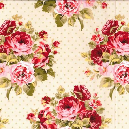 Rambling Rose Cream Fabric