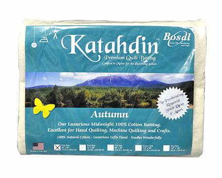 395B-WHT Katahdin Premium 100% Cotton Batting - Autumn 4oz - 45in x 60in