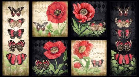 Multi Harlequin Poppies Craft Panel