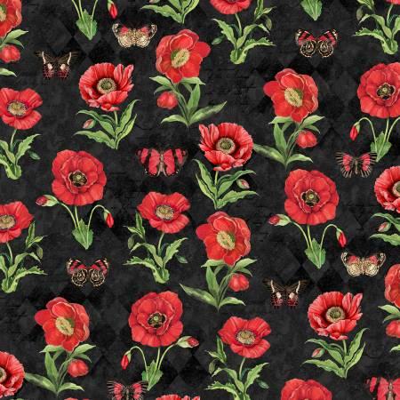Black Poppies & Butterflies