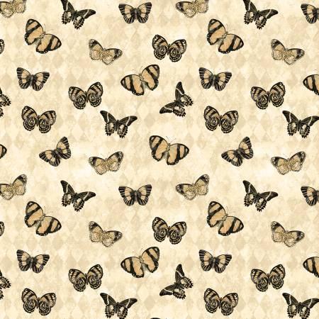 Cream Butterflies Allover