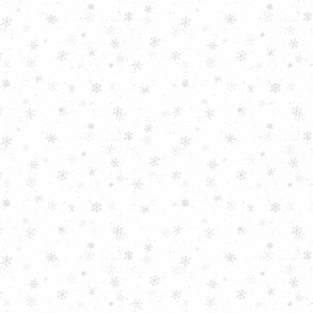 Evergreen Farm White on White Snowflakes 100