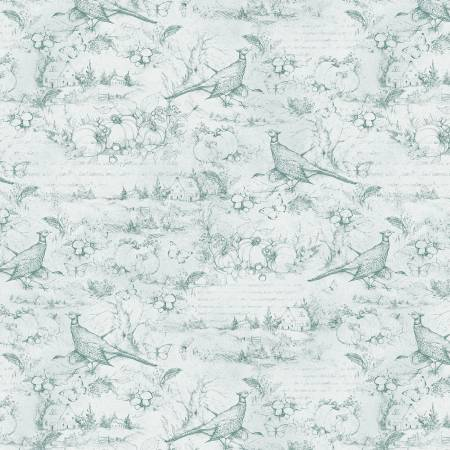 Seeds Of Gratitude Light Blue Toile