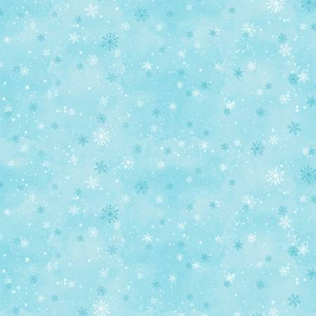 Nose to Nose Snowflakes Blue