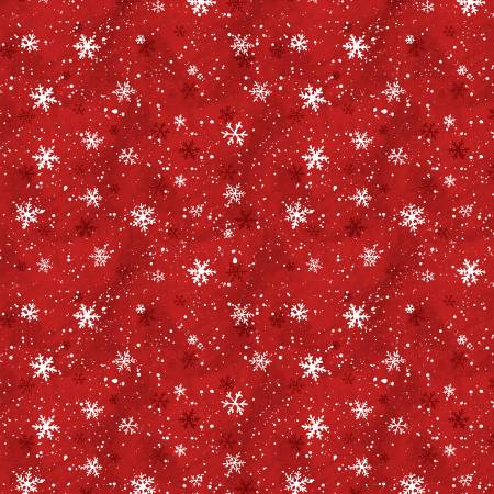 Red Snowflakes - Winter Forest - Susan Winget