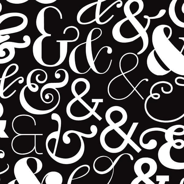 Black Large Ampersand