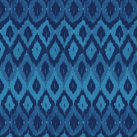 Indigo Blue Geometric