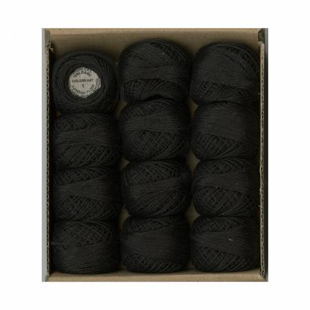 Valdani 3 Strand Ball Floss 30yd Vibrant Black