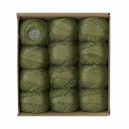 Valdani 6 Ply Cotton Floss Olive Green Medium 822