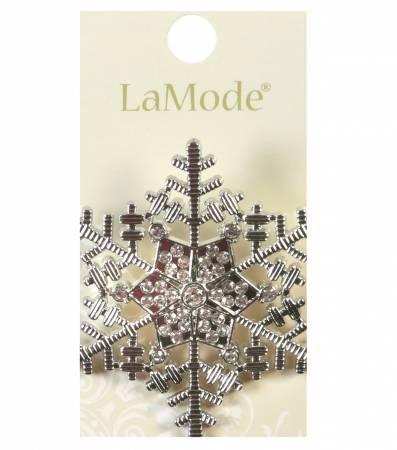 LaMode Rhinestone Snowflake 2in 50mm