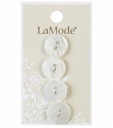 LaMode White with Square Holes 5/8in 16mm 2 hole