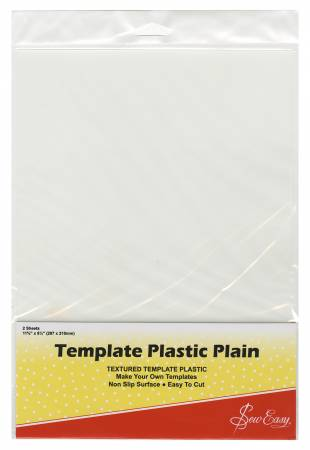 Template Plastic Plain - 2 Sheets 11 5/8 x 8 1/4 in